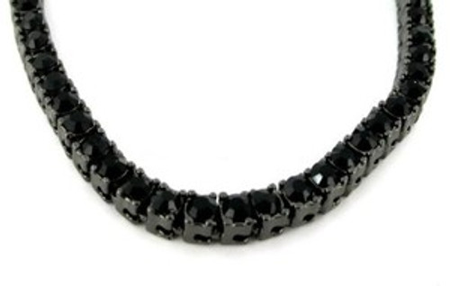 """Iced Out Jewelry BLACK CZ Diamond 36"" Chain"