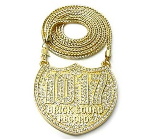 """1017 Gucci Mane Waka Flocka 23k Gold Plated ICE Piece w/FREE 36"" chain"