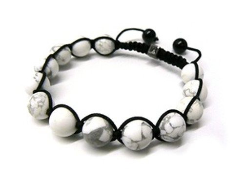 """LA Mens Collection Shambhala White Fiji  Bracelet MB_44"