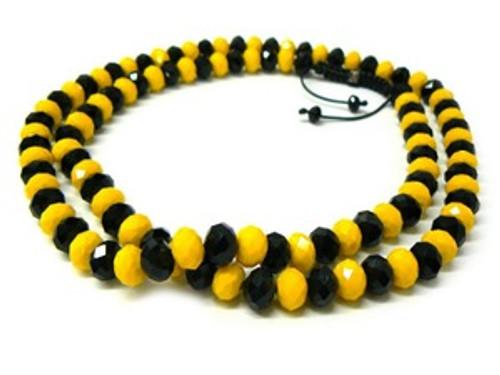 """""""BLACK & YELLOW Shambhala 12MM x 36"""" Chain"""