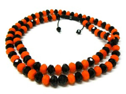 """BLACK & ORANGE  Shambhala 12MM x 36"" Chain-SALE"