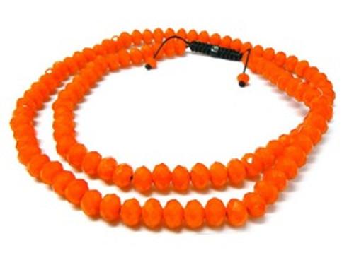 """ORANGE  Shambhala 12MM x 36"" Chain"