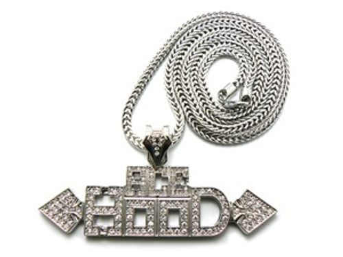 "1""-ACE Hood-Silver Pendant w/ FREE 36"" Chain"