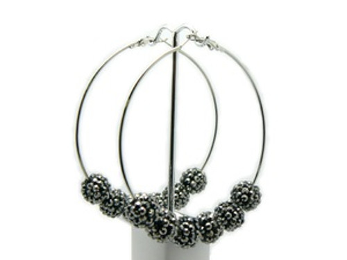 """Basketball Wives Earrings-Speed crystal Hoops"