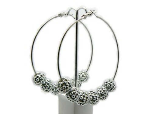 """Basketball Wives Earrings-All Silver"