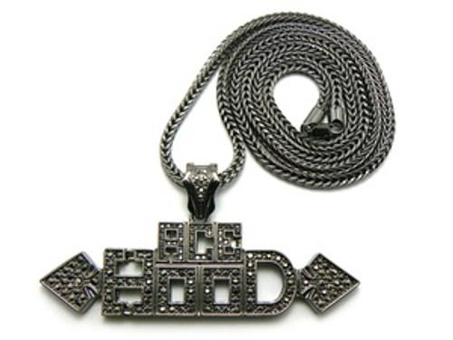 """ACE Hood Black Pendant w/FREE 36"" Chain"