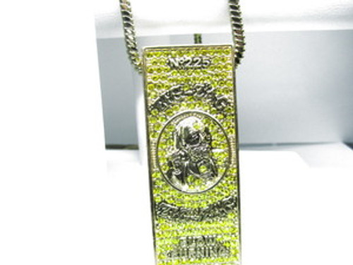 """1-Zig Zag 225 Yellow ICE Pendant wFREE 36"" Chain"