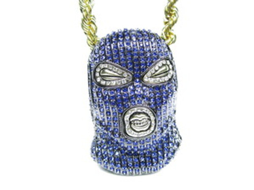 """Blue Plies 3"" x 2""  Goon Mask w/FREE 36"" Chain"