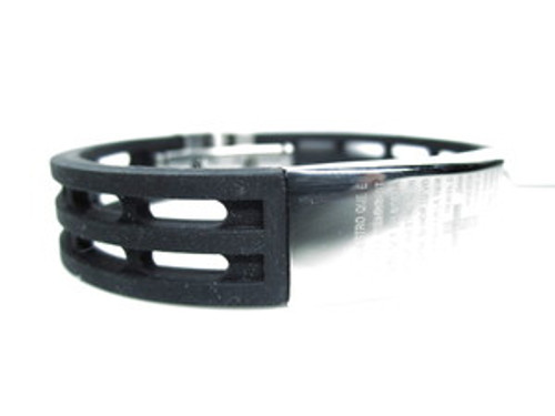 """Lords Prayer Bracelet (Spanish)  Black Rubber &Stainless steel"