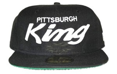 """Original Pittsburgh King Cap-Black & White"