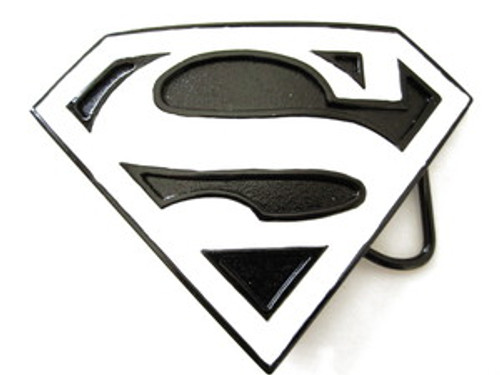 """Superman belt buckle-Black& White"
