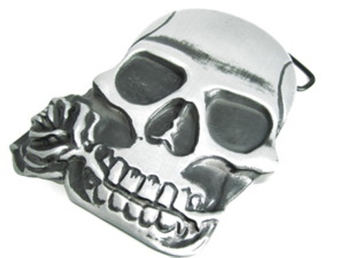 """Skull Belt Buckle w/ hidden back compartment"