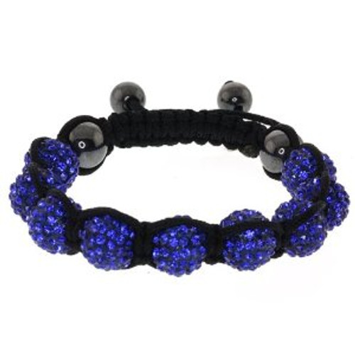 """Ladies Blue Ball Shambhala Bracelet w/BOX"