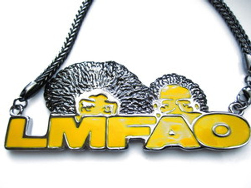 """LMFAO (4""x2"") Pendant & Chain Set 36"""