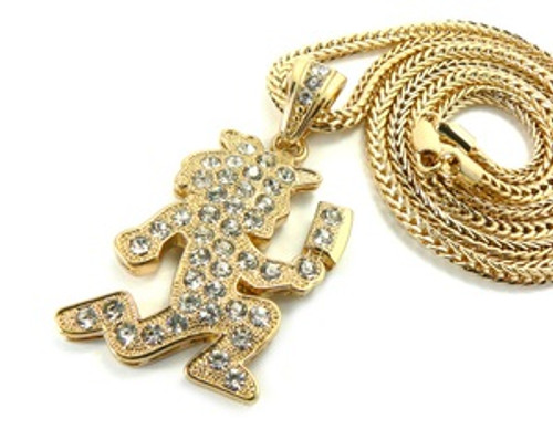 """Gold AXE Man Pendant w/FREE 36"" Chain"