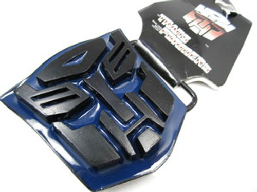 """Transformers Licenced Black & Blue Belt Buckle"
