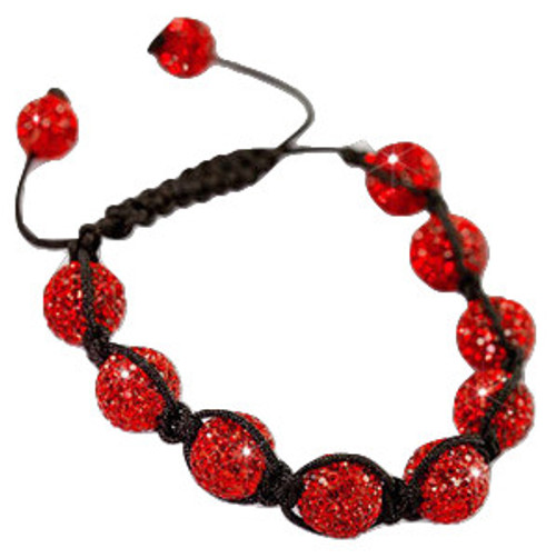 """RED 9Ball Shambhala Baller Bracelet"