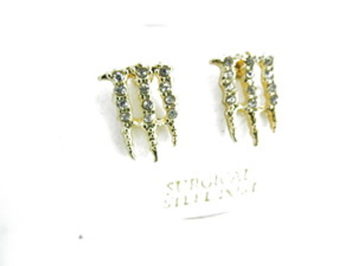 Iced Out Energy Drink Earrings | Gold