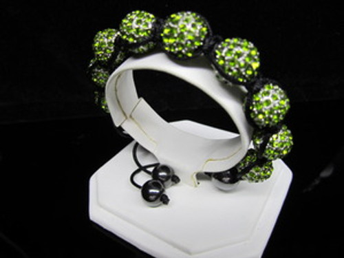 """KAYNE WEST SPECIAL EDITION/GEM Green Shambhala Bracelet w/BOX"