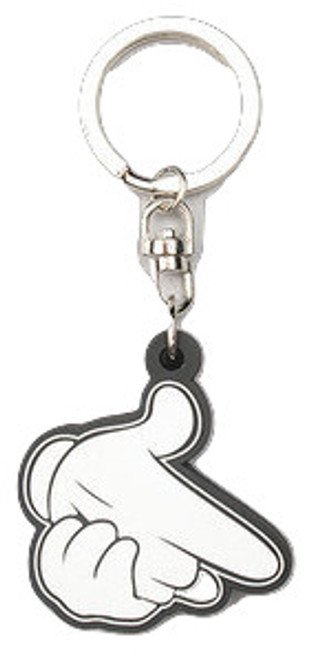 """Crooks and Castles The Air Guns Keychain in White-last one!"