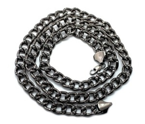 """Jay Z BLACK ICED Out LInk Chain  10MMx36"