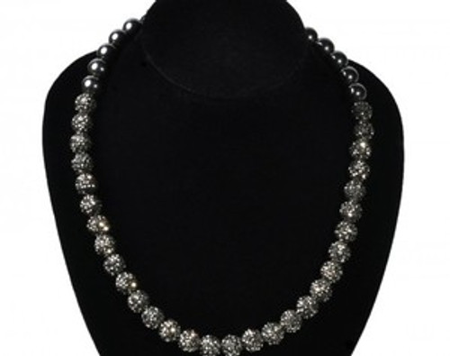 """Shambhala Blackball Crystal Necklace-Celebrity Worn"