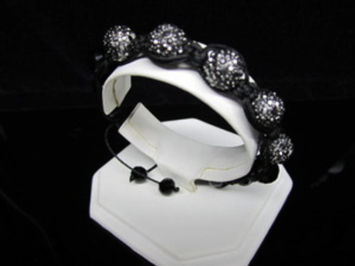 """GOTHAM BLACK DIAMOND WOMAN Shambhala Bracelet/REG.$160"