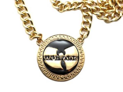 """1-WU-TANG Gold Pendant w/FREE 36"" Chain"