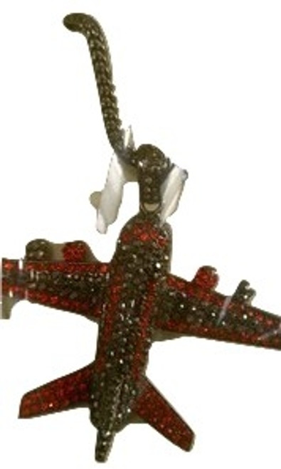 """""""RED Iced Out Plane w/FREE 36"""" Chain"""
