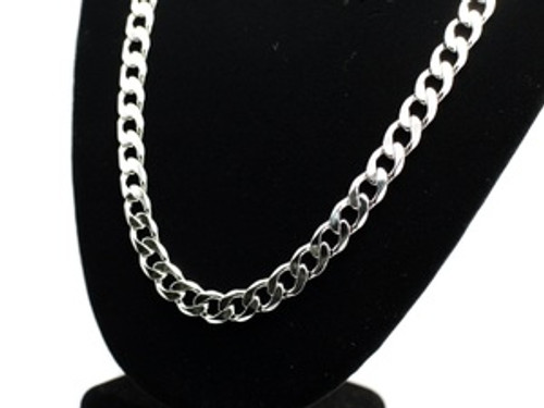 """Silver CUBAN Link Chain 10MM X 24"""