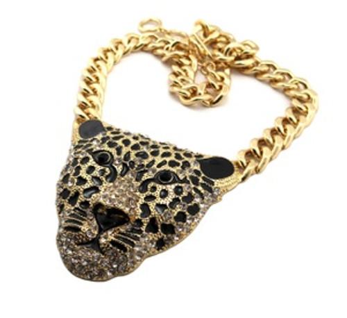 """""""Rhianna Pendant w/Jaguar head Ladies gold"""