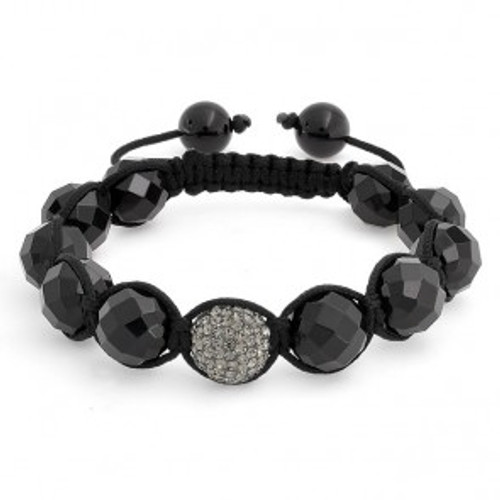 """NEW-Grey/Onyx Shamballa Inspired bracelet"