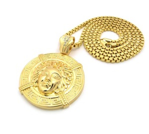 """1-Versace Empire Gold Pendant w/FREE 36"" Chain"