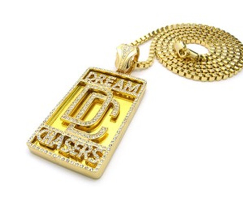 """1-Dream Chasers Gold Pendant w/FREE 36"" Chain"