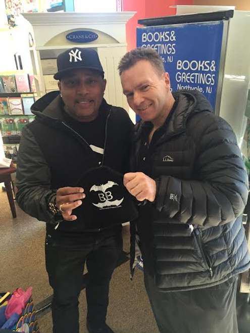 SHARK TANK'S VERY OWN DAYMOND JOHN Showing off theblackbat.com hat Black hat w/company logo as shown $15