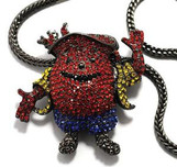 """ICED OUT KOOL-AID MAN PENDANT #2  W/ 36"" FRANCO CHAIN"