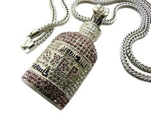 Syrp pill bottle light red iced out pendant w free chain for Pill bottle jewelry