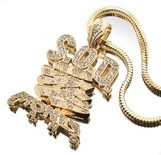 """SOD CUSTOM Soulja Boy New Money Gang pendant GOLD"