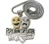 """LIL BOOSIE'S BLACK PLAY NOW CRY LATER PIECE & 36"" CHAIN"