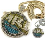 "Lil boosie&Webbie's TRILL ENT Gold w/Free 36""Chain"