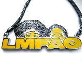 """LMFAO (4""x2"") Pendant & Chain Set 36"""