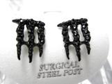NEW MONSTER-Energy Earrings-BLACK Iced Out