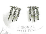 NEW MONSTER-Energy Earrings-SILVER Iced Out