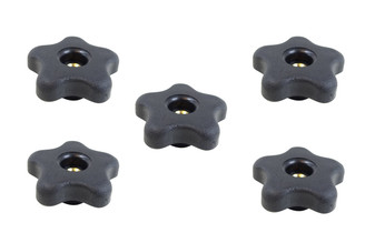 71072 5-Star Thru Knob 1/4 x 20, 5-Pack