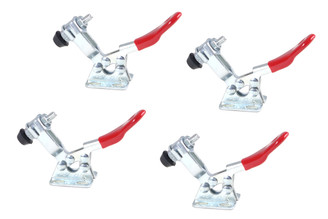 20321 Horizontal Quick-Release Toggle Clamp, 60 lbs Capacity, 201, 4-Pack