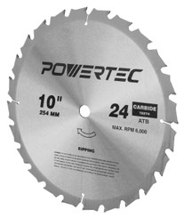 15010 10-Inch 24 Teeth ATB Table Saw Blade with 5/8-Inch Arbor
