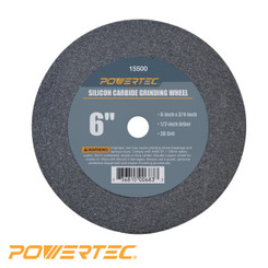 Silicon Carbide Grinding Wheel, 6-Inch by 3/4-Inch, 1/2-Inch Arbor