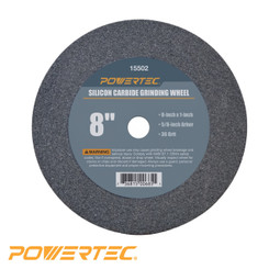 Silicon Carbide Grinding Wheel, 8-Inch by 1-Inch, 5/8-Inch Arbor