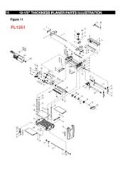 KEY#7 (PL1250 KEY#4-5) PL1250004.5 Handle Shaft