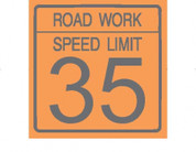 (C17) ROAD WORK SPEED LIMIT 35 - 24X24 CB